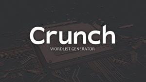 Make WordList Use Crunch