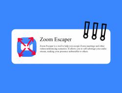 Inilah Aplikasi Zoom Escaper Untuk Kabur Dari Rapat Online