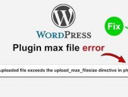 Cara Mengatasi Error The Uploaded File Exceeds the upload_max_filesize Directive in php.ini di WorPress